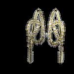Brinco Argola Semi Curvo Ouro Amarelo 18K 750 cravado com 74 diamantes de 1.00 ponto-ASP-BR01