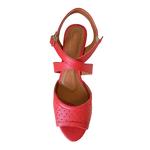 Sandália em Sintético Vermelho