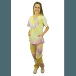 Pijama Cirúrgico - Tie dye Colors Amarelo