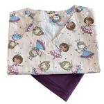 Pijama Cirúrgico Feminino - Peça única promocional - Bailarinas 01
