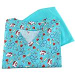 Pijama Cirúrgico Feminino - Peça única promocional - Medical Nursing Digital 01 - Tam G
