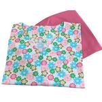 Pijama Cirúrgico Feminino - Peça única promocional - Estampa Flores 01 sem bolsos