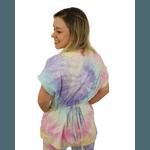 Scrub Feminino - Tie dye Colors Azul