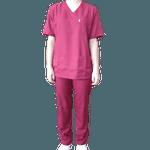 Conjunto Cirúrgico em Microfibra - Vinho - Plus Size