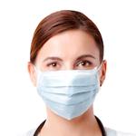 Mascara Descartavel Cirurgica com Tiras Caixa com 100 Unidades