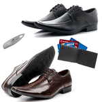 KIT 02 Pares de Sapatos + Carteira + Calçadeira