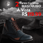 Kit Black C/ 2 Coturnos Preto E Azul Preto/Azul