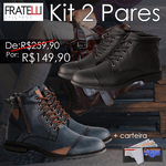Kit Com 2 Pares - Preto/Azul 505/506 + carteira