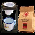 Kit de Café Excelência - de Araxá - Café Gourmet torrado e moído 250g