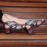 Sandália Kelly em couro Bordô J.Gean
