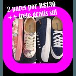 2 pares tenis mayara R$130,00 + frete gratis sul