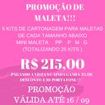 PROMOÇÃO DE KITS DE CARTONAGEM PARA MALETAS