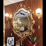 Espelho Dourado Com Moldura Trabalhada