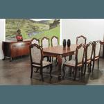Sala De Jantar Da Linha Leon Com Mesa De 2,26m, 8 Cadeiras e Balcão