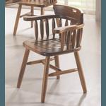 Cadeira Country Com Braço Assento Ripado Imbuia