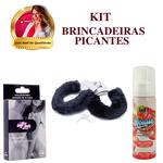 MOUSSE DE MORANGO + ALGEMA + BARALHO / KIT Brincadeiras Picantes
