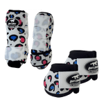 Kit Simples Color Boots Horse Cloche e Boleteira - Estampa 30 / Velcro branco (1298)