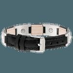Pulseira Sabona - modelo 30 prata e couro