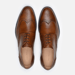 Sapato Masculino Derby Brogue Browne Whisky