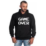 Moletom Masculino Estampado Game Over Preto - Selten