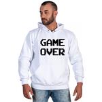 Moletom Masculino Estampado Game Over Branco - Selten