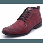 Bota Coturno Masculino Casual Top Franca Shoes Bordo