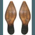 Bota Country Bico Fino Top Franca Shoes Platinado / Branco