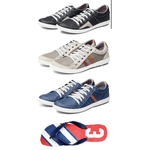 Kit 3 Tênis Sapatenis Chinelo Masculino Casual Top Franca Shoes
