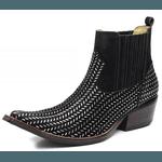 Botina Bota Country Bico Fino Top Franca Shoes Platinado