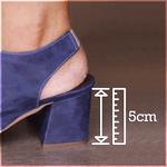 Sandalia Salto Grosso Confortável Veneza Azul- 177-02