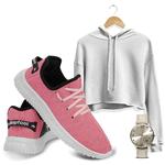 Kit Cropped Moletom e Easy V2 Feminino Pink/ Branco + Relogio
