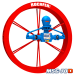 Bomba ROCHFER MSG-70D + Roda D'água 2,20 x 0,36 m