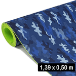 2 Mm Eva cobertura Camuflado Azul (139x 50 Cm)