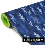 2 Mm Eva Cobertura Camuflado Azul (136x 50 Cm)