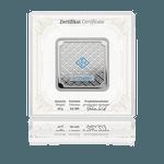 Silberbar Geiger original - 50 g .999 quadratisch in Kapsel