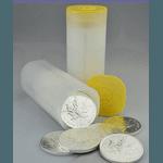 Tubo com 25 1 oz 2020 Canadian Silver Maple Leaf