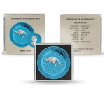 2019 Space Blue Perth Kangaroo Silver – 1 oz