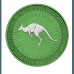 2020 Space Green Perth Kangaroo Silver – 1 oz