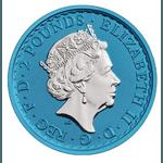2019 Space Blue Great Britain Britannia Silver – 1 oz