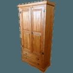 Armário fechado porta almofada 2 gavetas