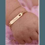 PULSEIRA INFANTIL BANHADA, NOME CHAPINHA