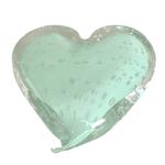 Coração de Cristal Murano Verde Celadon