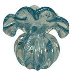 Vaso de Cristal Murano Toscana P Azul Claro