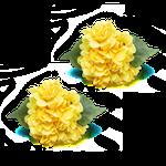 Porta guardanapo Hortênsia Amarela