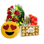 Kit Com Buque Apaixonado e Ferrero