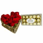 Kit Coração Flores e Chocolate