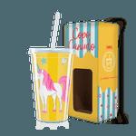 Copo Canudo - Unicórnio Amarelo
