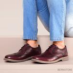 Sapato Casual Bernatoni Brogue Paris Vinho