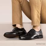 Sapato Social Brogue Bernatoni Bélgica Preto