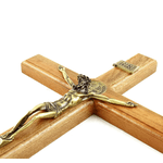 Crucifixo Mesa e Parede -Madeira 40 cm